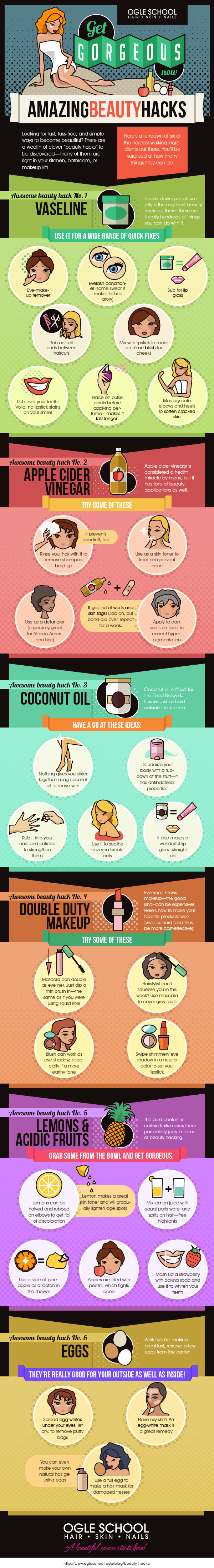 Get Gorgeous with these Amazing Beauty Hacks