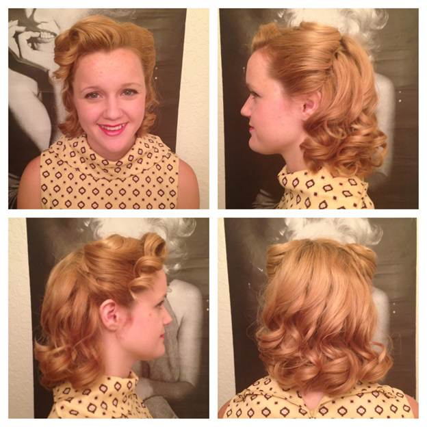 Vintage Hair Tutorial: Victory Rolls with Cascading Curl