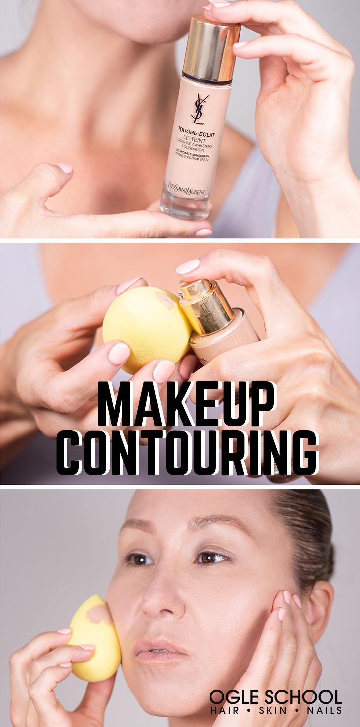 makeup contouring apply foundation
