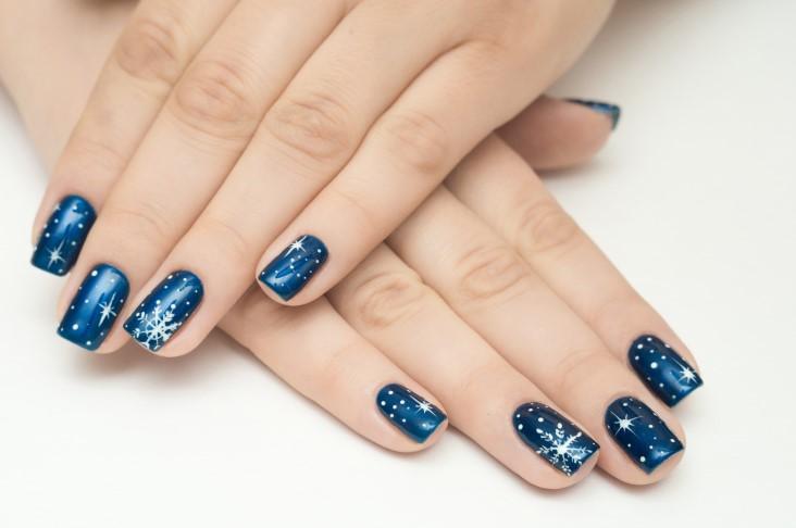 Great Christmas themed nail art