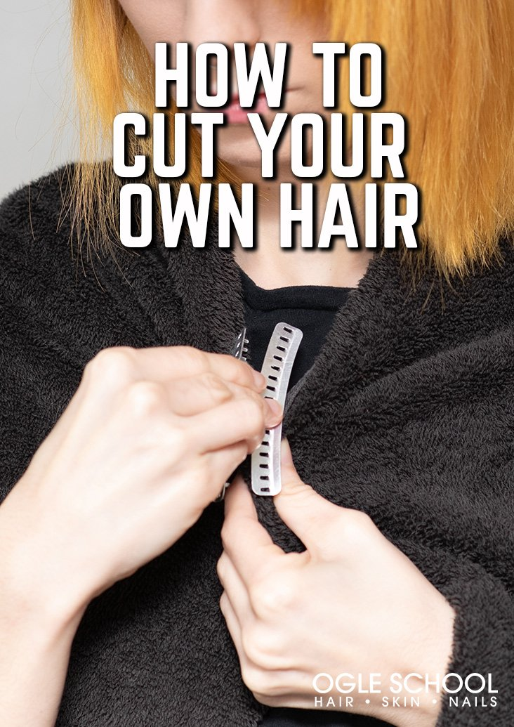 preparing to cut your own hair