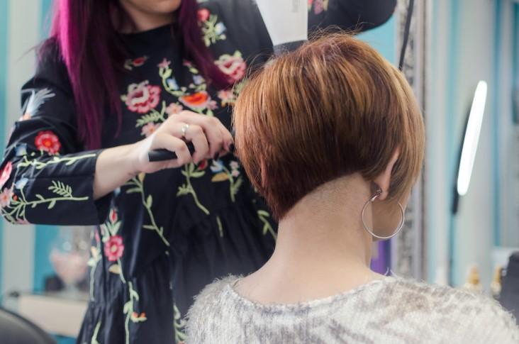 Trendy asymmetrical pixie cut style