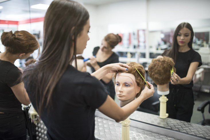 attending beauty school after graduation