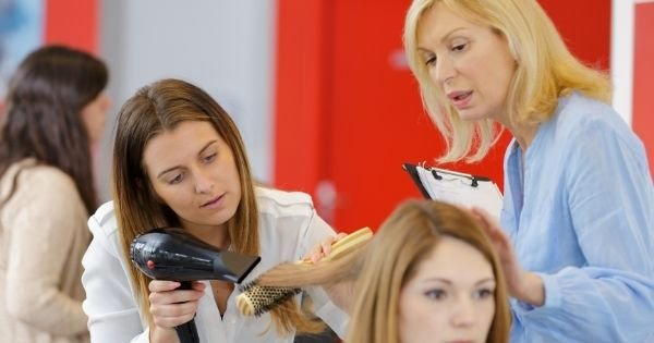 Student learning in cosmetology school
